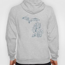Michigan Up North Collage Hoody