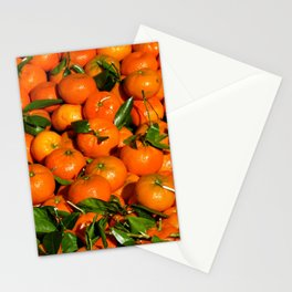 Fresh Orange Fruits pattern Stationery Cards