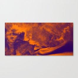 Sands of the Cosmos - Orange Canvas Print