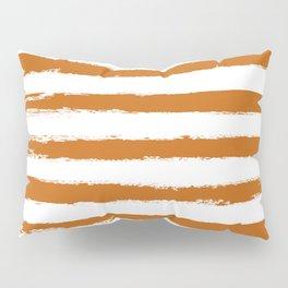 Autumn Maple STRIPES Handpainted Brushstrokes Pillow Sham