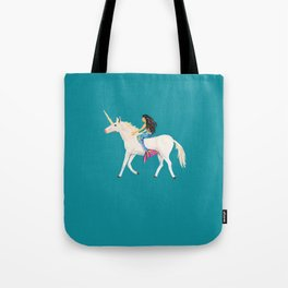 To the Land of Mermaids and Unicorns Tote Bag
