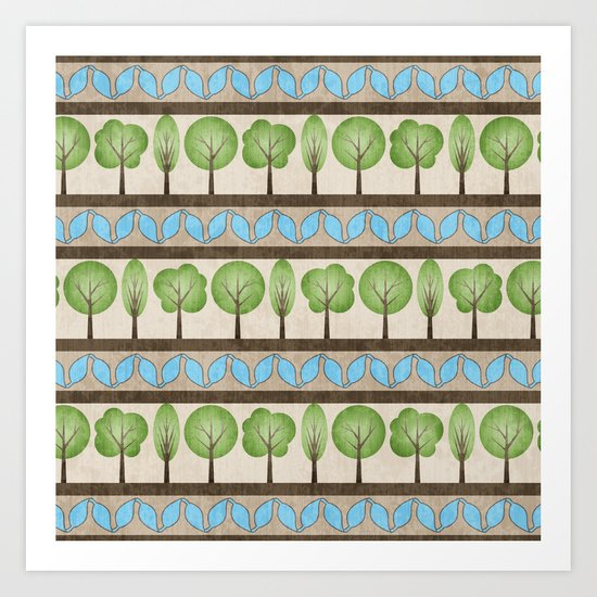 English Country Garden Art Print