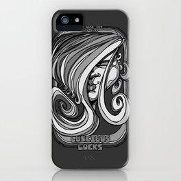 Luscious Locks - Harbour Mist grey iPhone Case