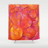 camo Shower Curtains featuring Camo flowers by Shelly Bremmer