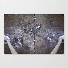Skates Cementery Canvas Print