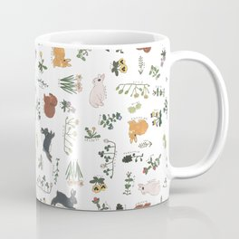 Bunnies and spring flowers Coffee Mug