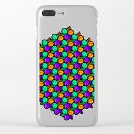 Vibrant Floral Tricolora Clear iPhone Case