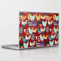 cincinnati Laptop & iPad Skins featuring Cincinnati Chickens red by Sharon Turner