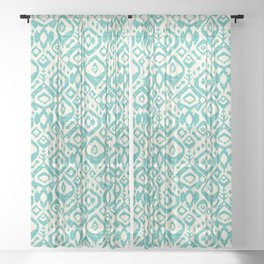 lezat turquoise Sheer Curtain
