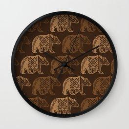 Bear Spirit Wall Clock