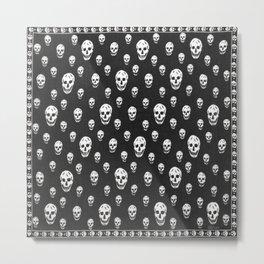 skull pillow alexander mcqueen Metal Print