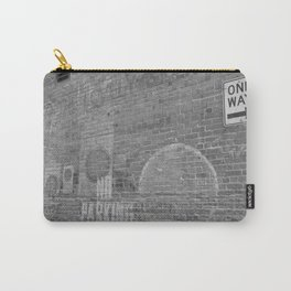 Alleyway downtown Calgary black and white Carry-All Pouch