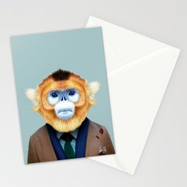 monkey portrait  Stationery Cards