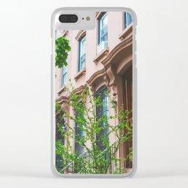 Brooklyn Summer Clear iPhone Case