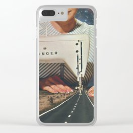 This is how a road gets made Clear iPhone Case