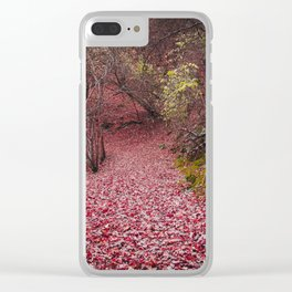 beautiful red fall Clear iPhone Case