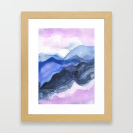 Mountain Abstract Watercolor Framed Art Print