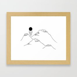 Rising - japan inspired Framed Art Print