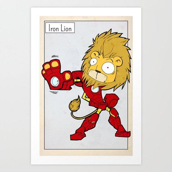 IRON LION - FAN ART AVENGER IRON MAN Art Print