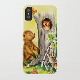 Woodland Animals & Owl's Tree iPhone Case