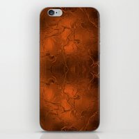 gold foil iPhone & iPod Skins featuring Gold Foil Texture 6 by Robin Curtiss