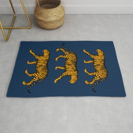 Tigers (Navy Blue and Marigold) Rug
