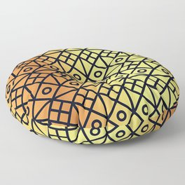 Black and Gold Modern Pattern Floor Pillow