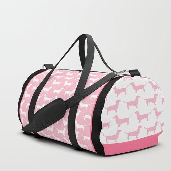 Pink Dachshund Silhouette Pattern by xooxoo