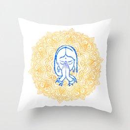 Namaste | Wisdom Flower Mandala Throw Pillow