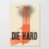 die hard Canvas Prints featuring Die Hard by Wharton