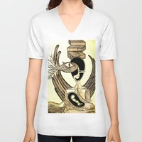 mother V-neck T-shirts featuring Mother by Nima