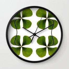 Lucky Clover Wall Clock