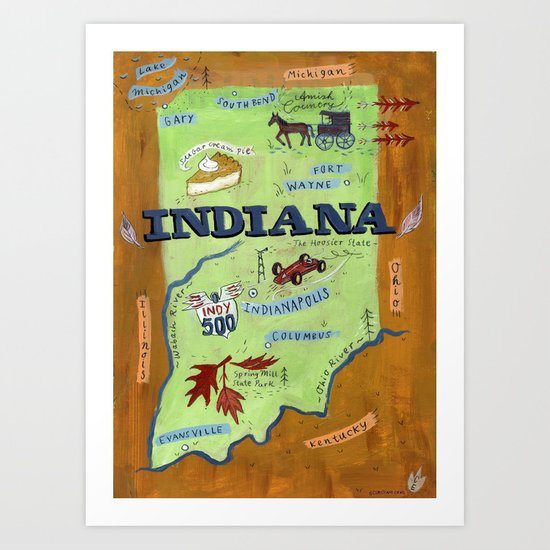 INDIANA Art Print