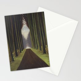 The Way through the Dark Forest by Leon Spilliaert Stationery Cards