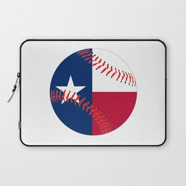 Texas Flag Baseball Laptop Sleeve