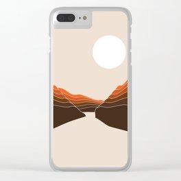 Desert Dusk Ravine Clear iPhone Case