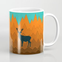 Deer silhouette in autumn Coffee Mug
