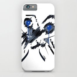 Abstract cat head iPhone Case