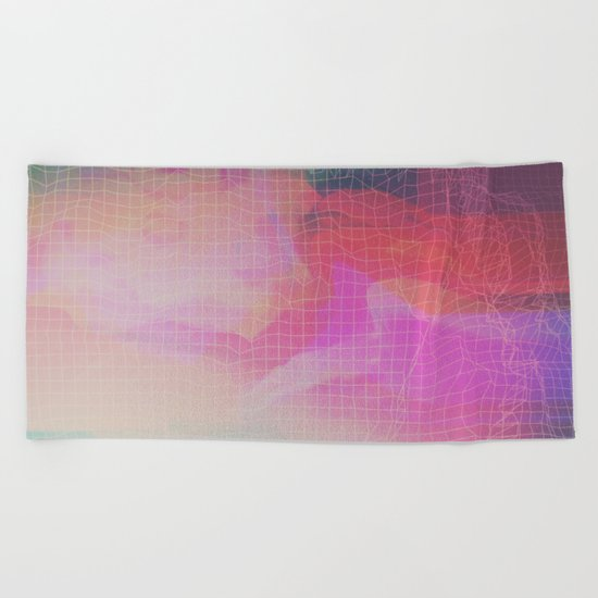 Glitch 09 Beach Towel