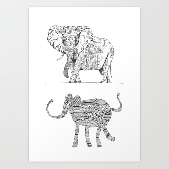 two ways to see one elephant Art Print