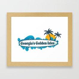 Golden Isles - Georgia. Framed Art Print
