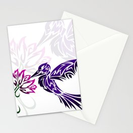 Hummingbird W/ Flower Stationery Cards