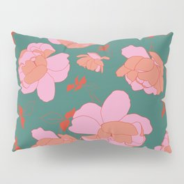 English Roses in Pink and Green Pillow Sham
