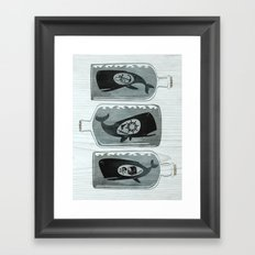 Whale in a Bottle | triptych Framed Art Print