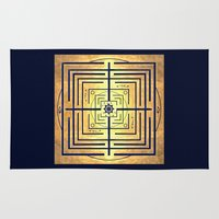 labyrinth Area & Throw Rugs featuring Knowledge Labyrinth by DebS Digs Photo Art