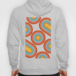 Retro Motion 2 – Orange / Yellow / Blue Abstract Stripe Pattern Hoody