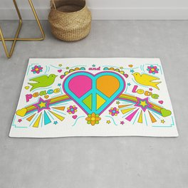 Peace and Love Rug