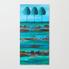 Teal Me A Story Canvas Print