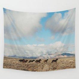 Running Reservation Horses Wall Tapestry