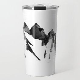 Mountain Painting | Landscape | Black and White Minimalism | By Magda Opoka Travel Mug